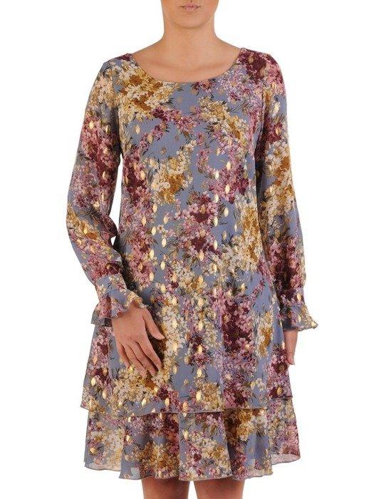 Sukienka wizytowa, zwiewna kreacja z delikatnym połyskiem 25914
