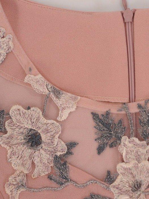 Sukienka wyjściowa, elegancka kreacja z baskinką 25509