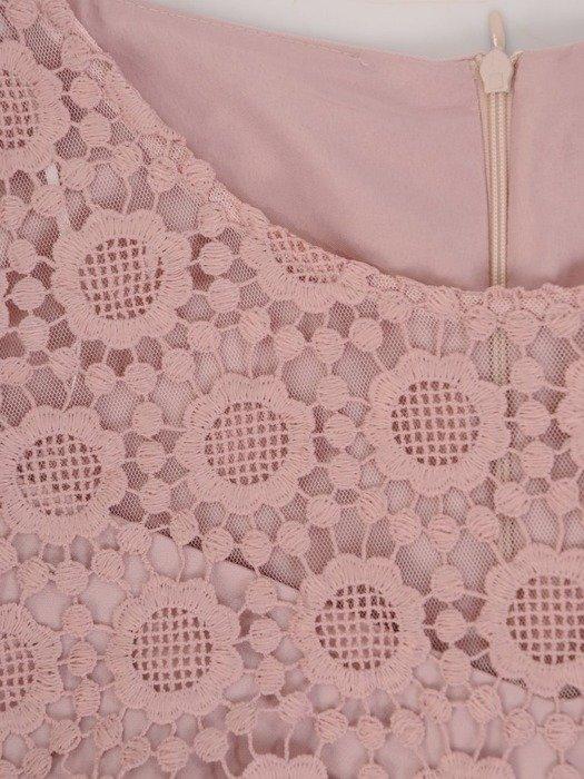 Sukienka wyjściowa, elegancka pudrowa kreacja 25528