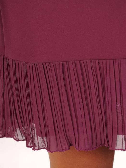Sukienka wyjściowa, kreacja z ozdobnymi falbanami 27846