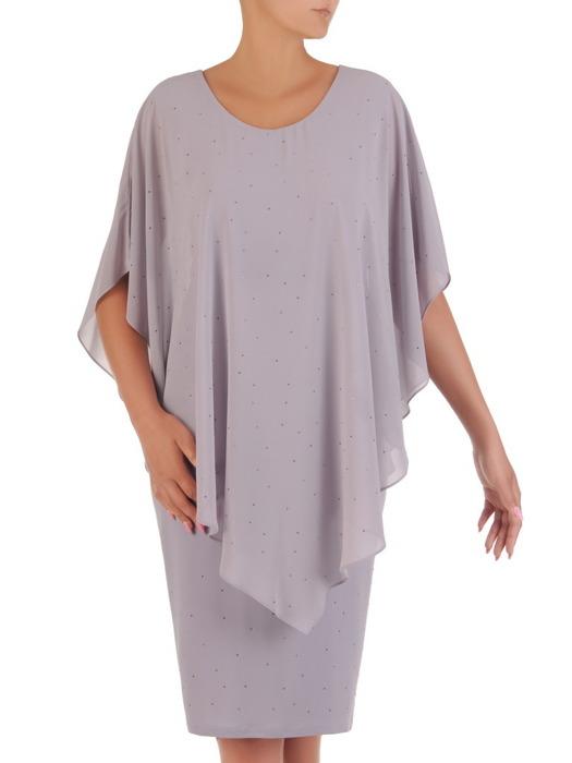 Sukienka wyjściowa, nowoczesna kreacja w fasonie maskującym brzuch 21006.