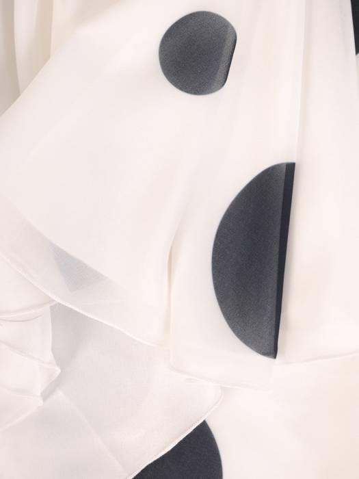 Sukienka wyjściowa, rozkloszowana kreacja w grochy 29653