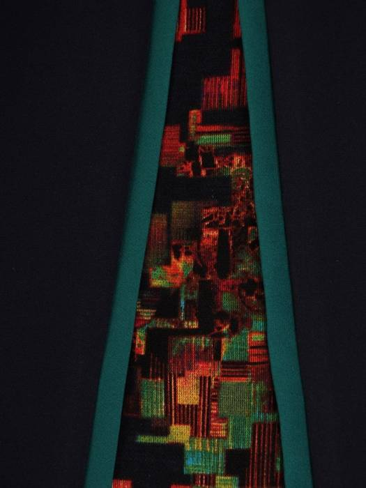 Sukienka wyjściowa, wyszczuplająca kreacja z łączonych tkanin 26986