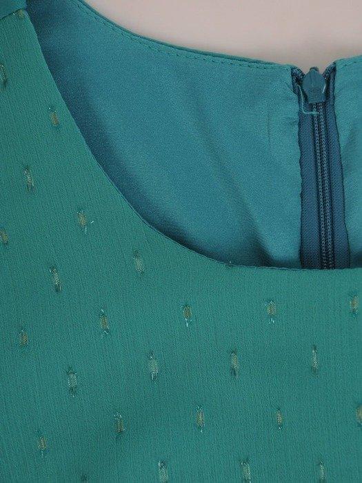 Sukienka wyjściowa, zielona kreacja z tkaniny i szyfonu 26643