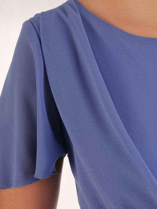 Sukienka wyjściowa, zwiewna kreacja z szyfonu 26403