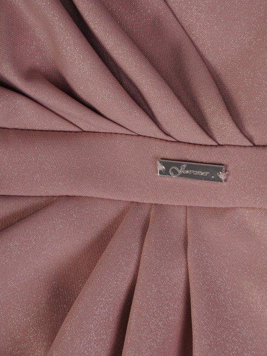 Sukienka wyszczuplająca talię, pastelowa kreacja kopertowa 25112