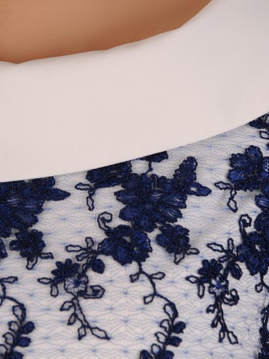 Sukienka z baskinką, elegancka kreacja w kobiecym fasonie 20274.