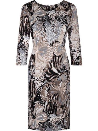 Sukienka z dzianiny Flawia, damska kreacja na jesień.