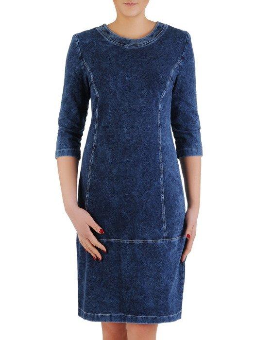 Sukienka z dzianiny dżinsowej Bernarda.