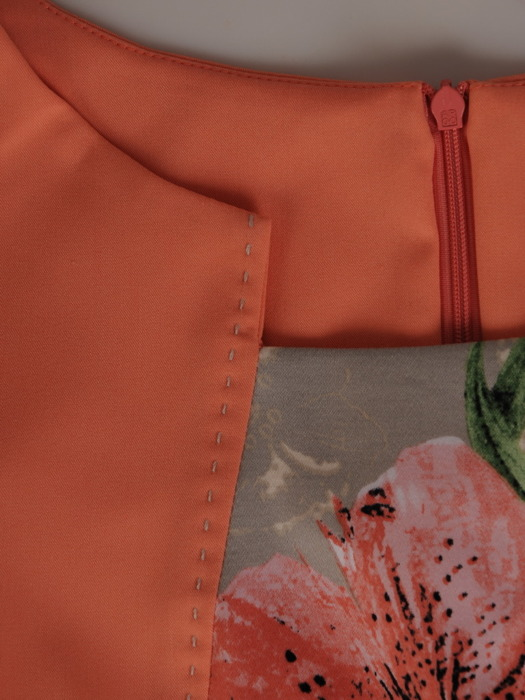 Sukienka z imitacją bolerka Fiona II, wiosenna kreacja w kwiaty