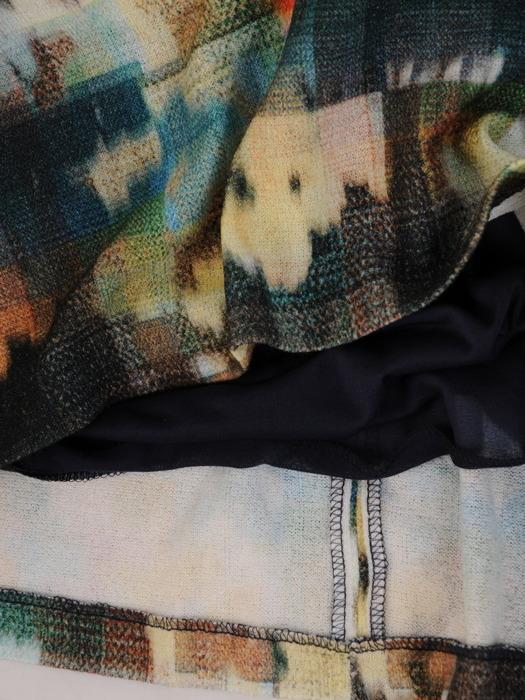 Sukienka z kontrafałdą, luźna kreacja z bawełnianej dzianiny 21868