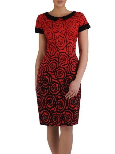 Sukienka z oryginalnym nadrukiem Beatriz II, modna kreacja w kwiaty.