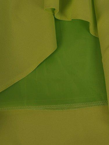 Sukienka z ozdobnym dekoltem Alika IV, zielona kreacja wizytowa.