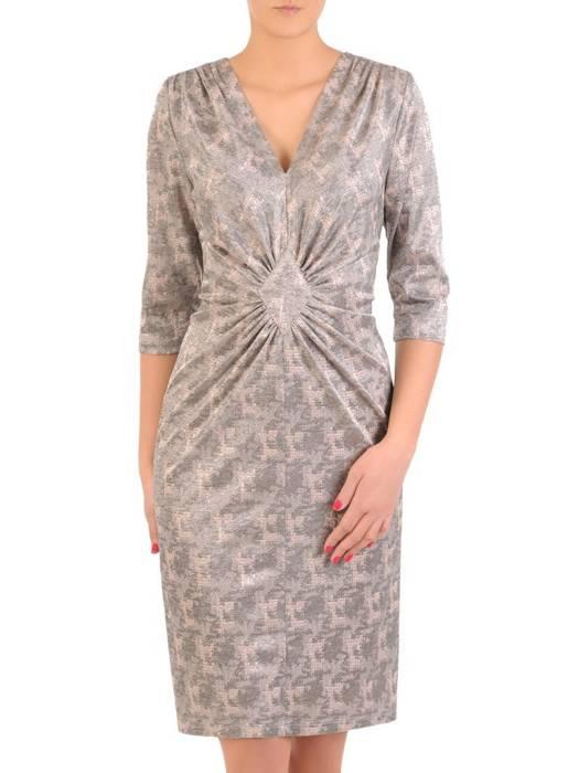 Sukienka z ozdobnym marszczeniem w talii 29094