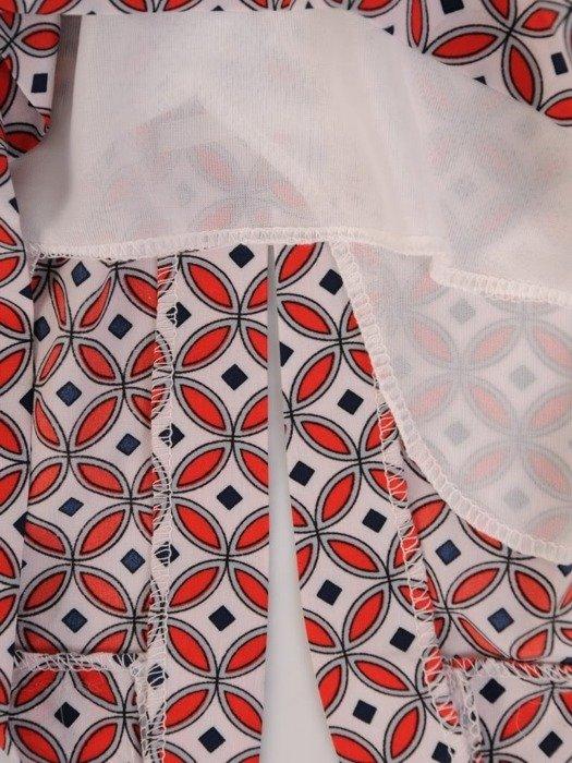 Sukienka z paskiem, wiosenna kreacja w modnym wzorze 25326