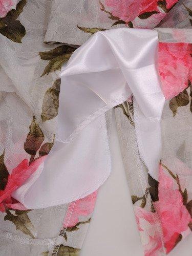Sukienka z szyfonu Marina I, zwiewna kreacja w kwiaty.