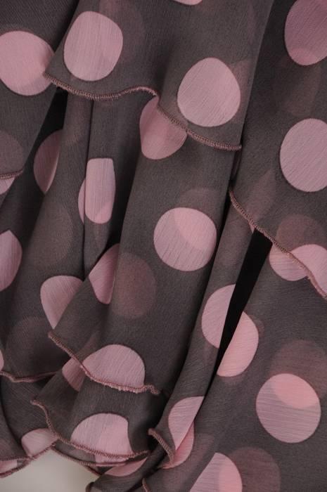 Sukienka z szyfonu, zwiewna kreacja w grochy 28071