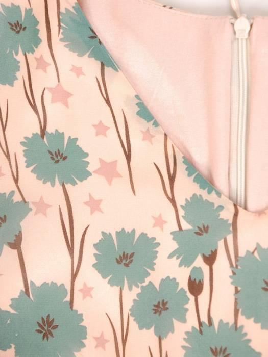 Sukienka z szyfonu, zwiewna kreacja w kwiaty 29359