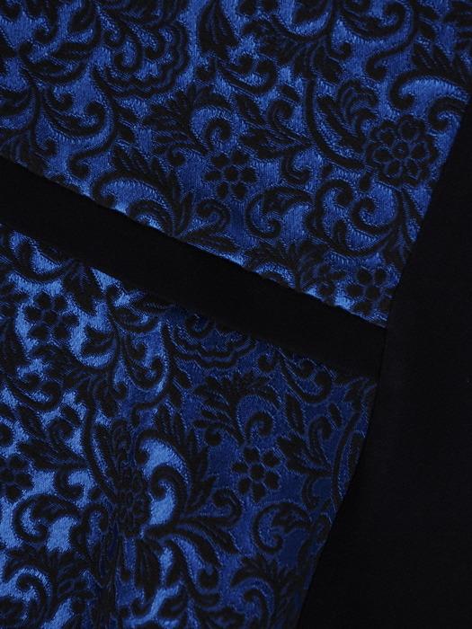 Sukienka z wyszczuplającymi wstawkami, żakardowa kreacja z falbaną 21814