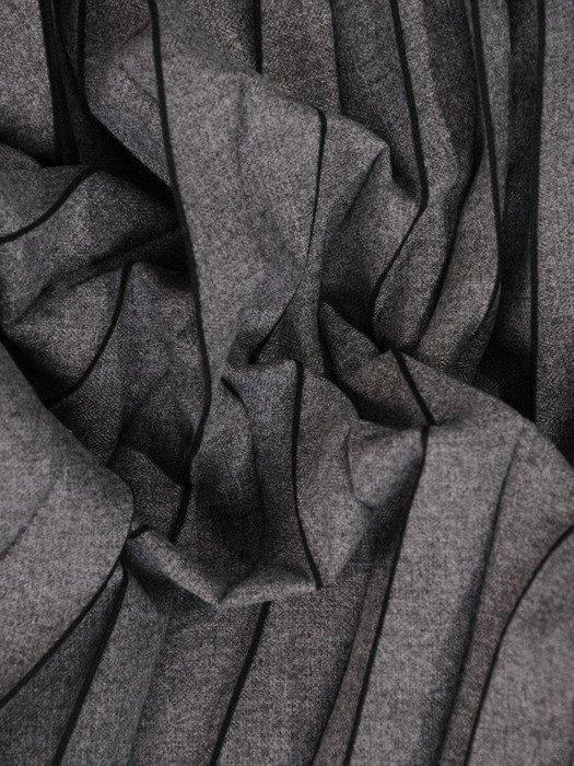 Szara spódnica w wąskie plisy 18637.
