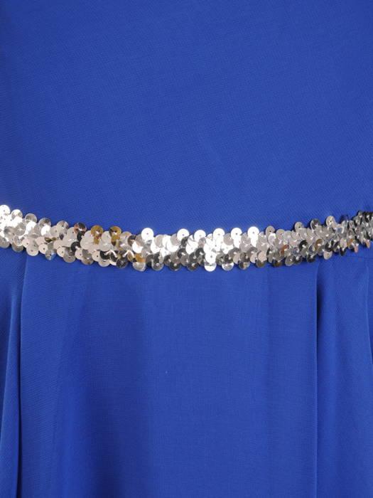 Szyfonowa, rozkloszowana sukienka z wyszczuplającymi zakładkami  30857