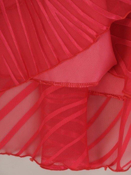 Szyfonowa sukienka o długości maxi, kreacja z ozdobnym dekoltem 24727