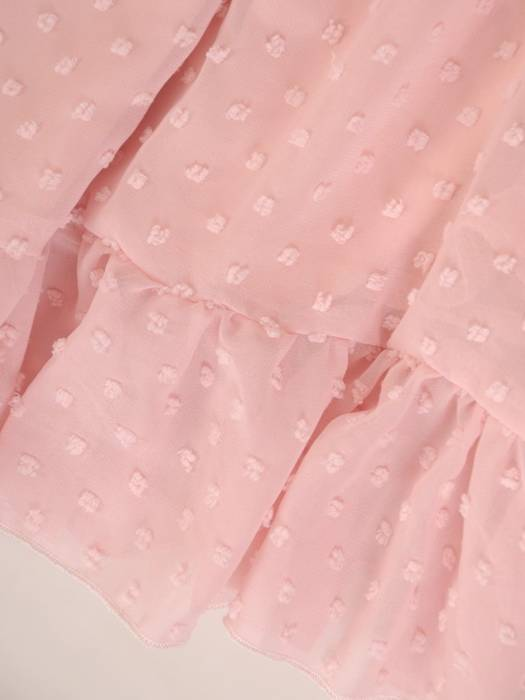Szyfonowa sukienka z kopertowym dekoltem i falbankami 30221