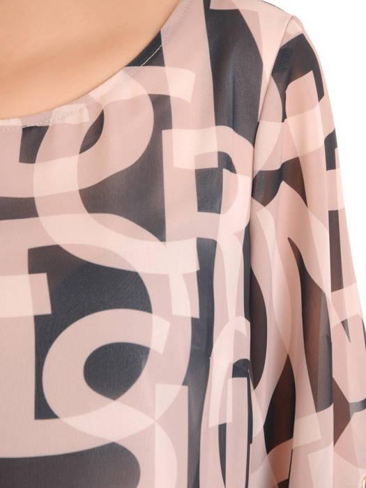 Szyfonowa, zwiewna bluzka z ozdobnymi rękawami 31207