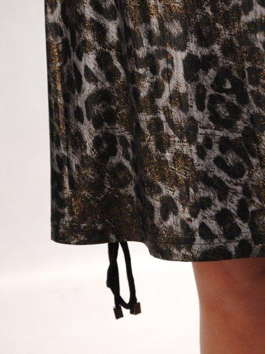 Trapezowa sukienka w modny zwierzęcy wzór 24802
