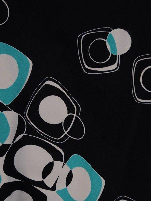 Trapezowa sukienka z szyfonu z rozcięciami na rękawach 25233