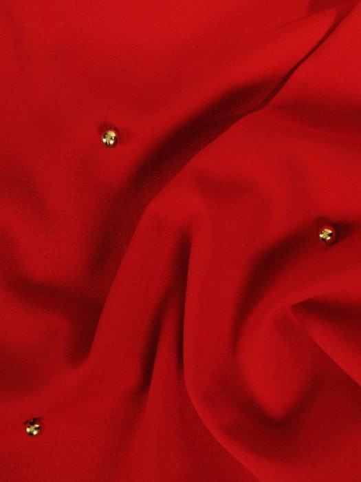 Trapezowa sukienka z tiulowymi rękawami 24136