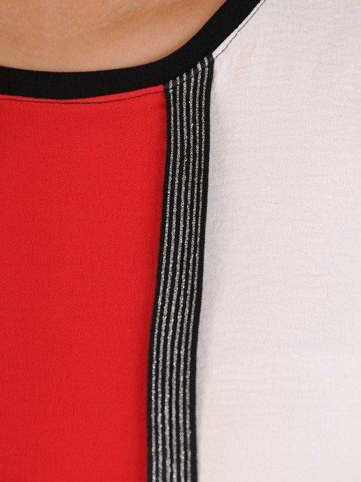 Tunika z tkaniny o luźnym fasonie 24593