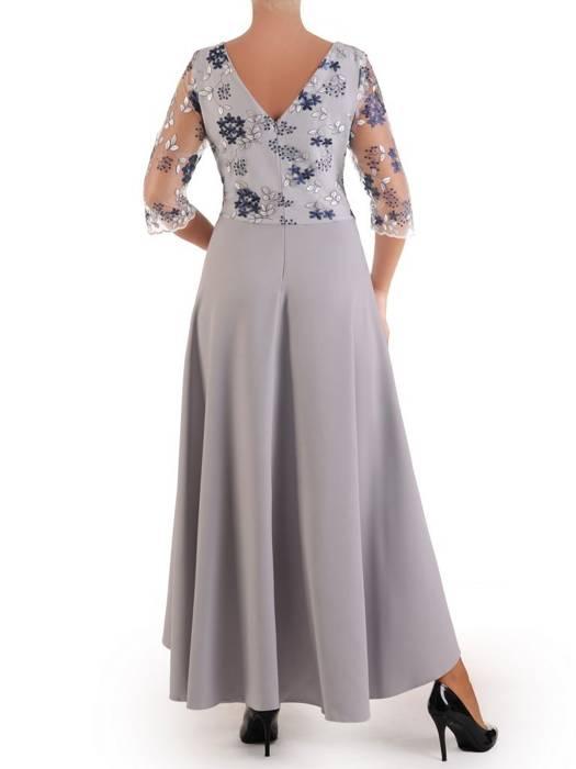 Wieczorowa sukienka z dłuższym tyłem i koronkową górą 26846
