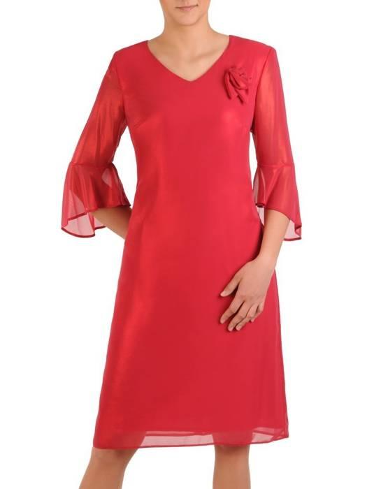 Wizytowa sukienka damska, kreacja z połyskującego szyfonu 29726
