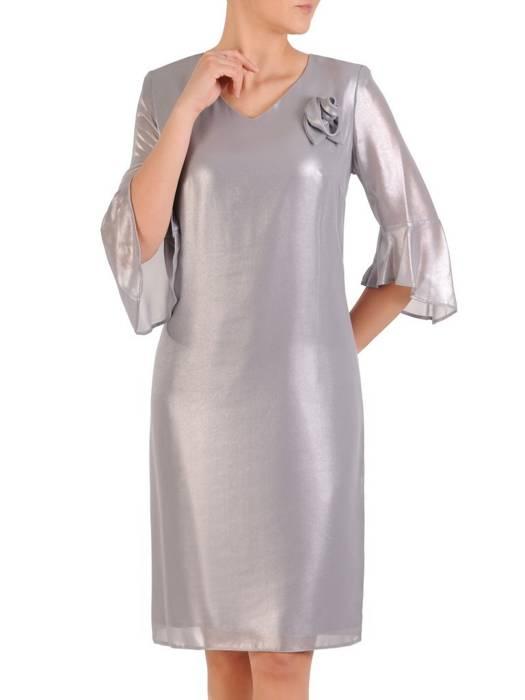 Wizytowa sukienka damska, kreacja z połyskującego szyfonu 29727