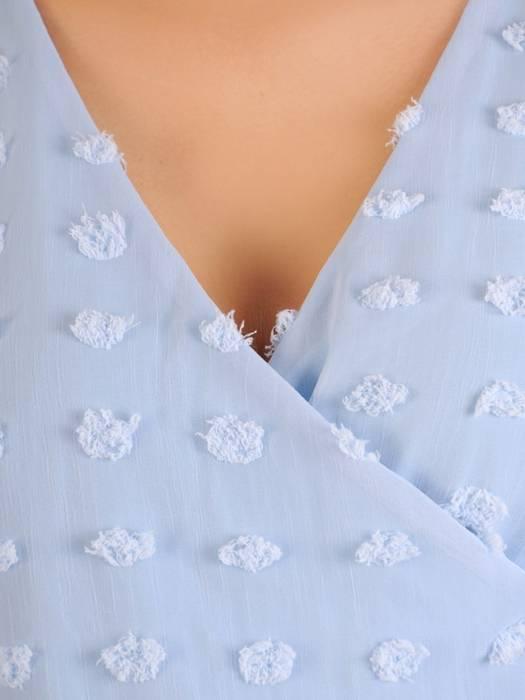 Zwiewna sukienka maxi z kopertowym dekoltem 30294