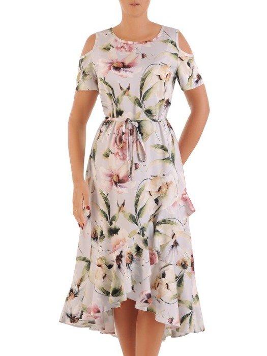 Zwiewna wizytowa sukienka w kwiaty 26771