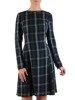 Rozkloszowana sukienka z modną stójką i wykończeniem rękawów 24290