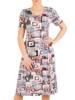 Sukienka z dzianiny, rozkloszowana kreacja damska  29590