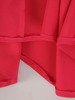 Amarantowa sukienka maxi z błyszczącą aplikacją w talii 22759