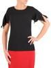 Bluzka damska z modnie wyciętymi rękawami 29944