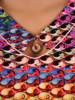Bluzka damska z ozdobnym dekoltem 26595