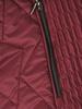 Bordowa kurtka damska z ozdobnym futerkiem 31026