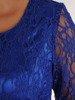 Chabrowa sukienka z baskinką i koronkowym topem 23384