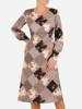 Codzienna kreacja, sukienka w geometrycznym wzorze 27057