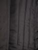 Czarny płaszcz damski z ozdobnym kołnierzem 30662