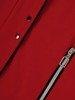 Czerwona  kurtka z ozdobnymi zamkami 24640
