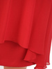 Czerwona sukienka z dwuwarstwową spódnicą i ozdobną aplikacją 30627