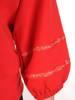 Czerwony komplet dresowy z ozdobnymi tasiemkami na rękawach 28697