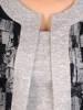 Dzianinowa sukienka, kreacja z imitacją żakietu 29330